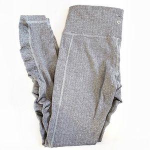 Lululemon Grey And White Leggings Size 6